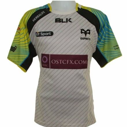 2014-2015 Ospreys Away Rugby Union Shirt, BLK, XL (Mint Condition)